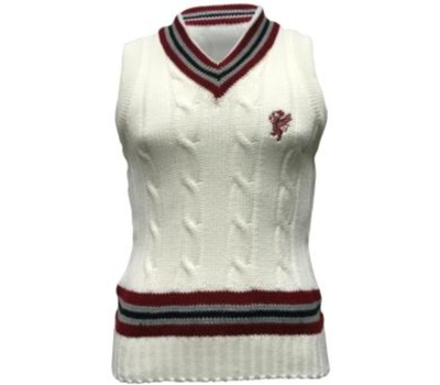Somerset County Cricket C Somerset CCC Cable Knit Sleeveless Sweater