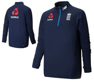 England Cricket England 1/4 Zip Fleece Training top