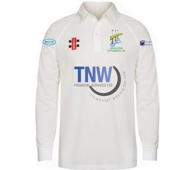 Shaldon Optimists CC Shaldon Optimists Cricket Club Long Sleeve Playing Shirt
