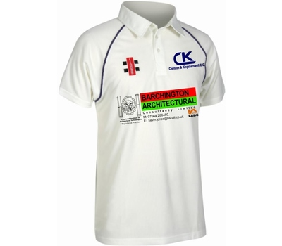 Chelston & Kingskerswell CC Chelston & Kingskerswell Cricket Club Short Sleeve Playing Shirt.