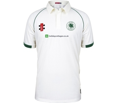 Westleigh CC Clothing GN Short Sleeve Playing Shirt Green Trim