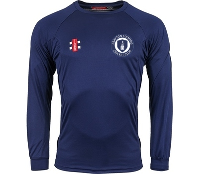 Gray Nicolls Bratton Fleming CC GN Long Sleeve Training Shirt Navy