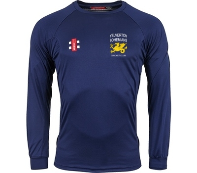 Yelverton Bohemians CC GN Long Sleeve Training Shirt Navy