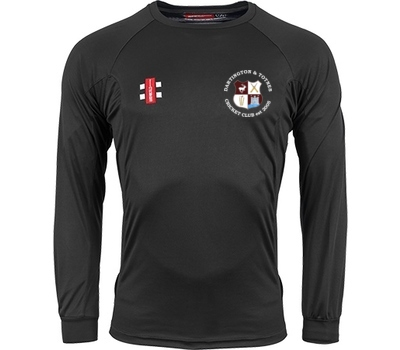 Dartington & Totnes CC Dartington and Totnes CC GN Long Sleeve Training Shirt Black