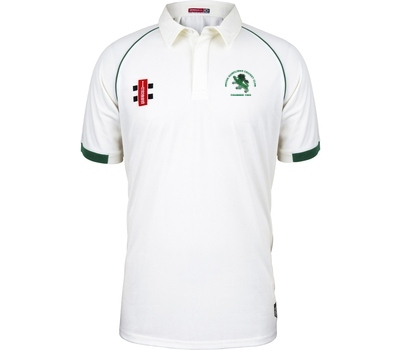 Devon Dumplings Cricket Club GN Short Sleeve Playing Shirt Green Trim