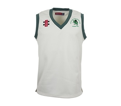 Devon Dumplings Cricket Club GN Sleeveless Fleece Jumper Green Trim