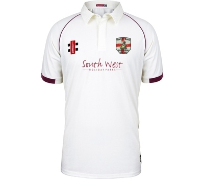 Clyst St George CC  GN Short Sleeve Playing Shirt Maroon Trim