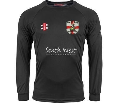 Clyst St George CC  GN Long Sleeve Training Shirt Black