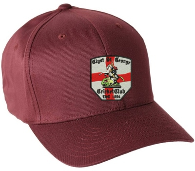 Clyst St George CC  Playing Cap Maroon