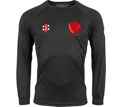 Sidbury CC GN Long Sleeve Training Shirt Black