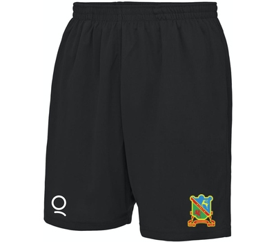 Qdos Cricket Ynysygerwn CC Black Training Shorts