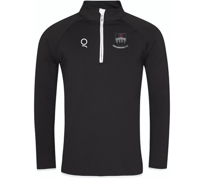 Kingsbridge CC 1/4 Zip Black Long Sleeve Top